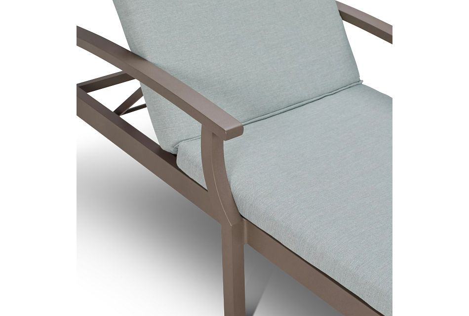 Raleigh Teal Aluminum Cushioned Chaise