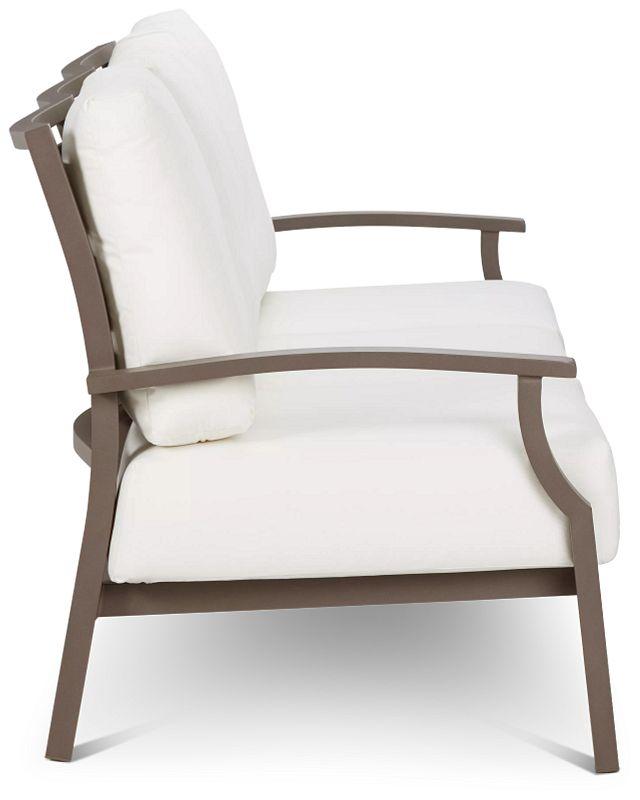 Raleigh White Aluminum Sofa (2)