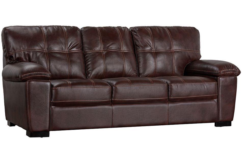 Henry Dark Brown Micro Sofa
