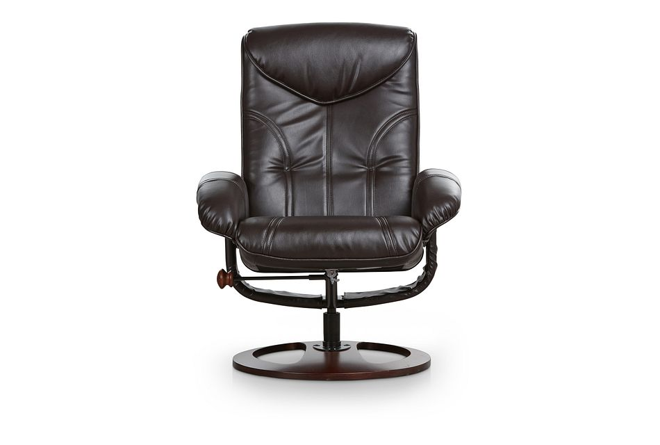 Willis Dark Brown Micro Recliner & Ottoman