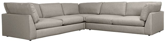 Harper Gray Fabric Two-arm Sectional (0)