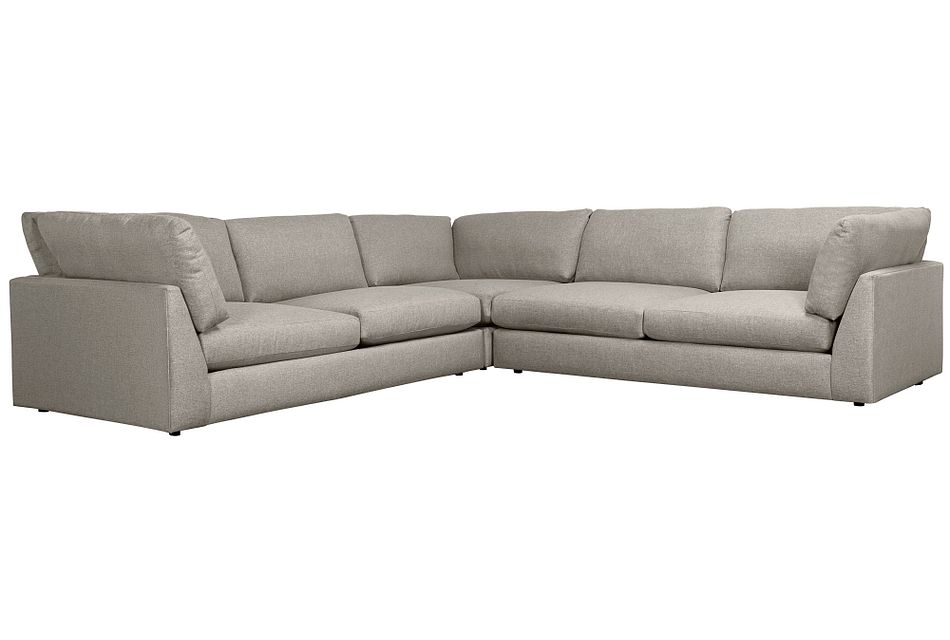 Harper Gray Fabric Two-arm Sectional