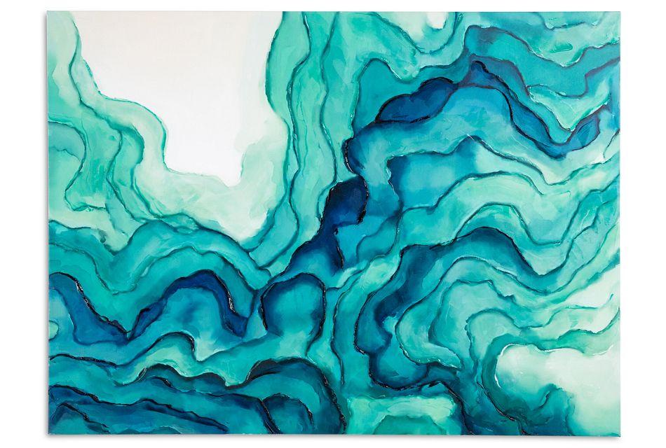 Emilia Blue Canvas Wall Art