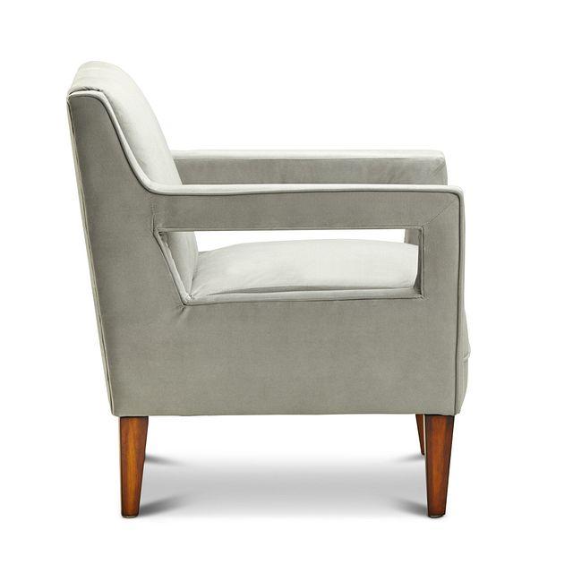 Dawson Light Gray Velvet Accent Chair (1)