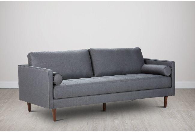 Rue Gray Fabric Sofa