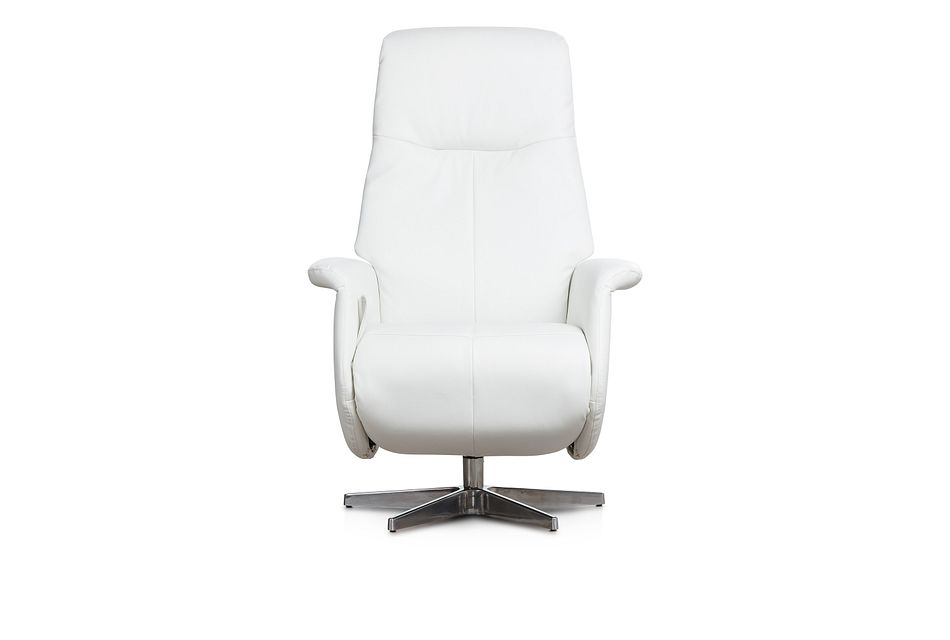 Dixon White Micro Swivel Recliner