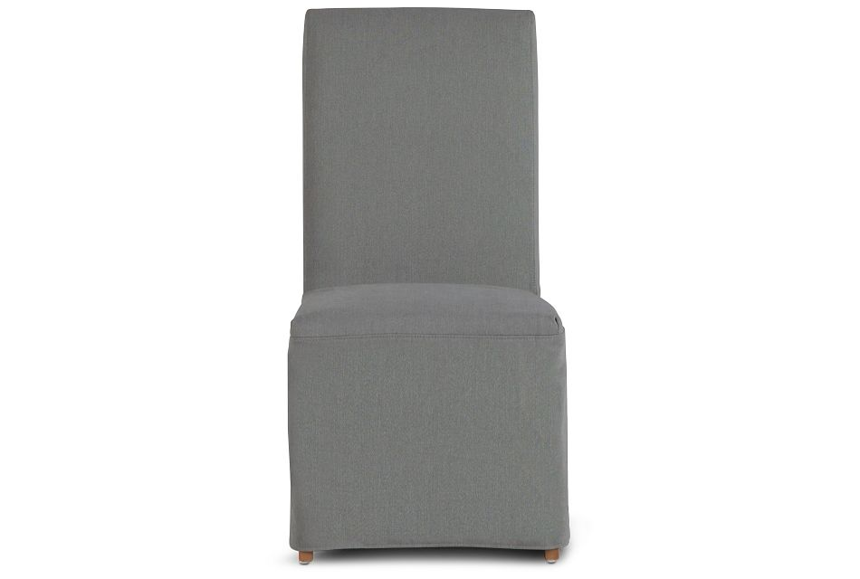 Destination Light Gray Long Slipcover Chair With Light Tone Leg, %%bed_Size%% (3)