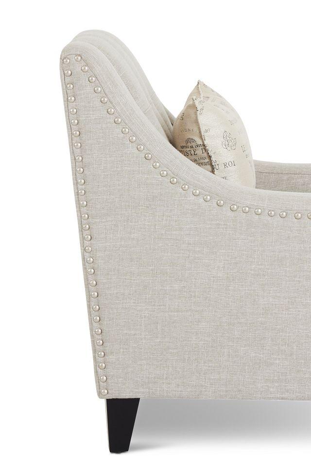 Hutton3 Light Taupe Linen Chair
