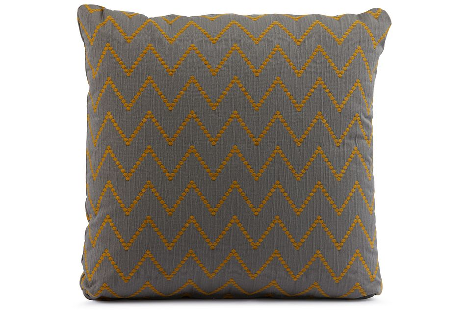 "Lulu Gray 18"" Square Accent Pillow"