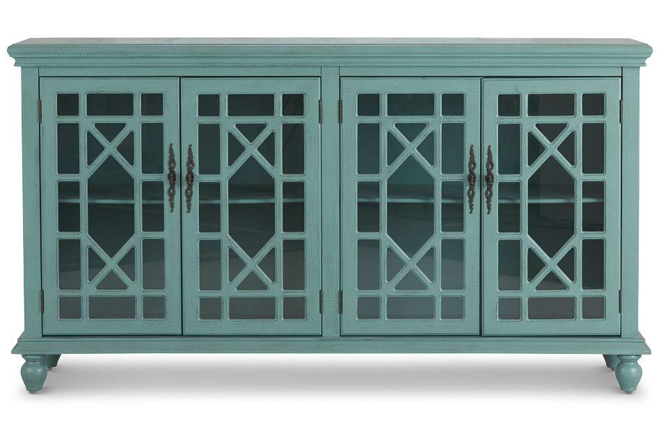Alexis Teal Four-Door Cabinet,