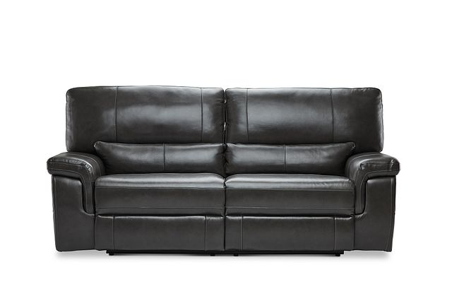 Weston Dark Gray Lthr/vinyl Power Reclining Sofa (0)