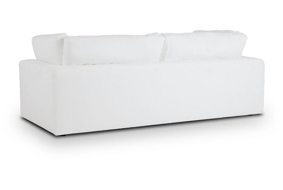 Grant White Fabric Sofa