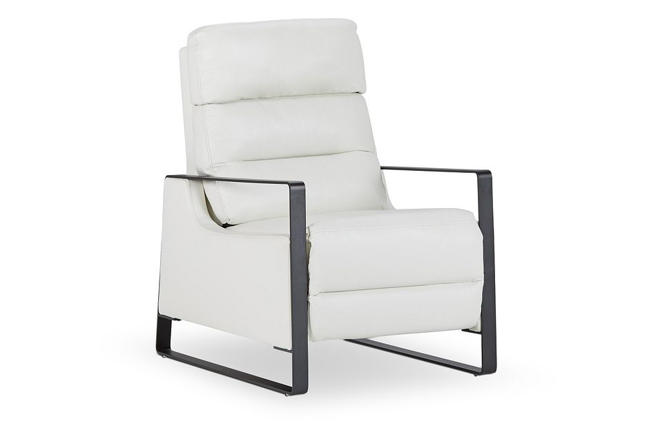 Pallas White Lthr/vinyl Power Recliner