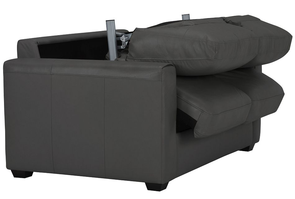 Lane Dark Gray Lthr/vinyl Memory Foam Sleeper
