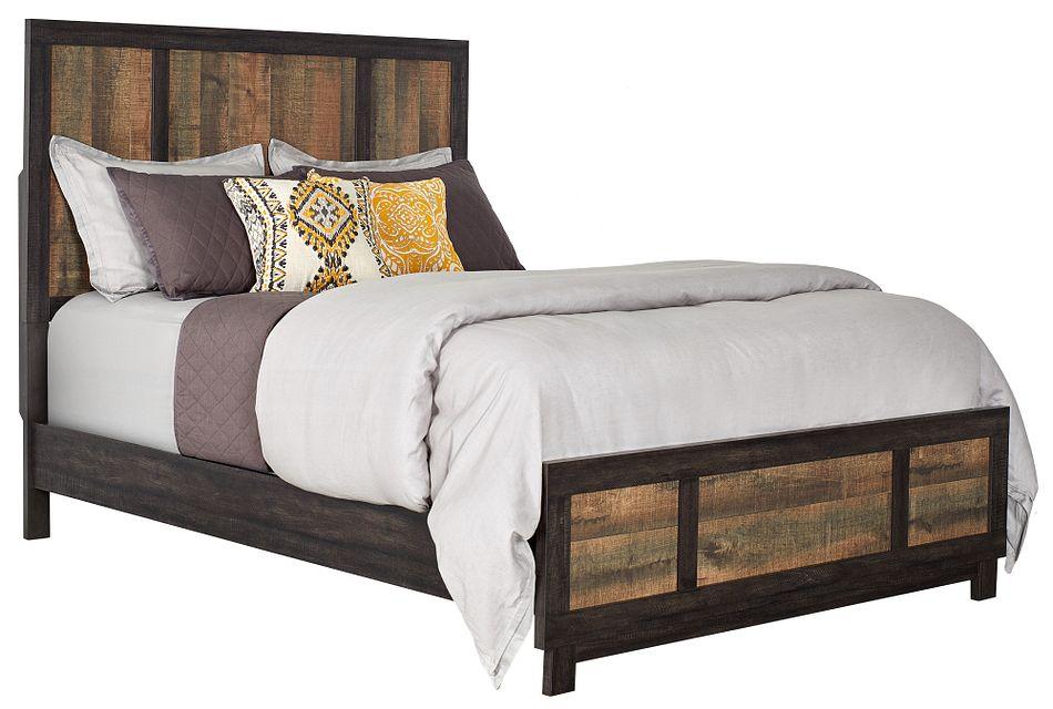 Harlington Dark Tone Panel Bed