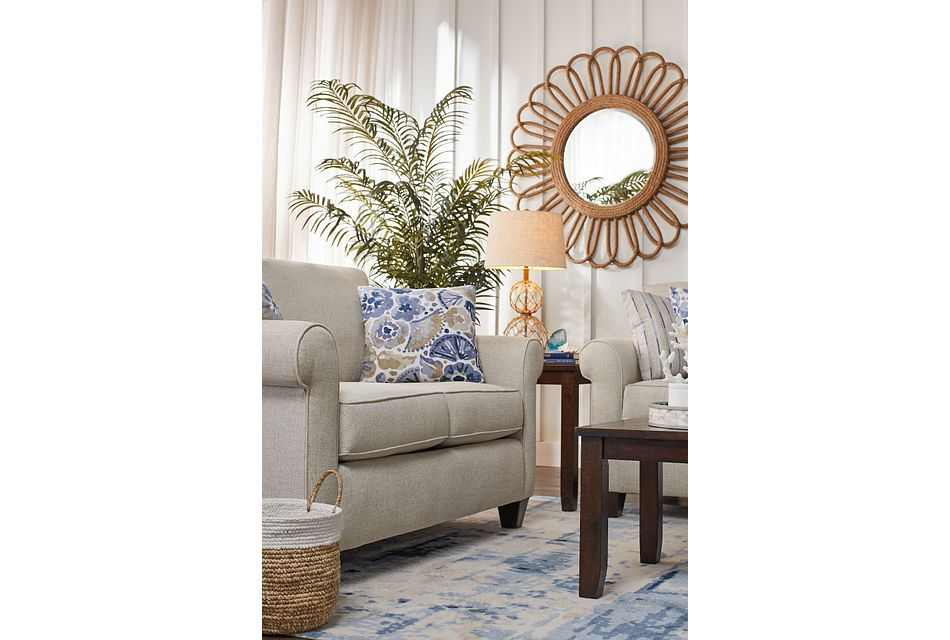 Cameron Beige Fabric Loveseat