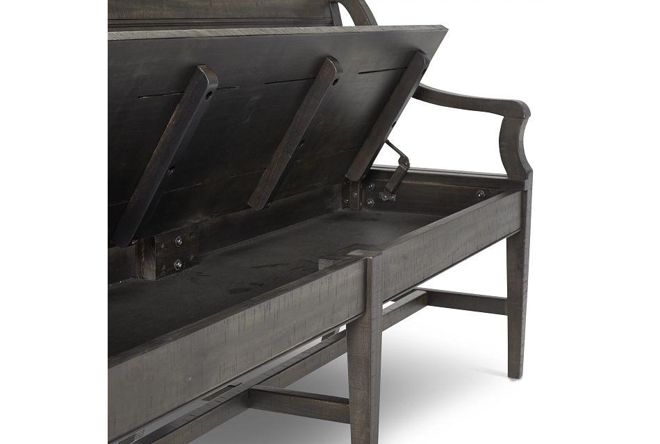 Heron Cove Dark Tone Storage Dining Bench