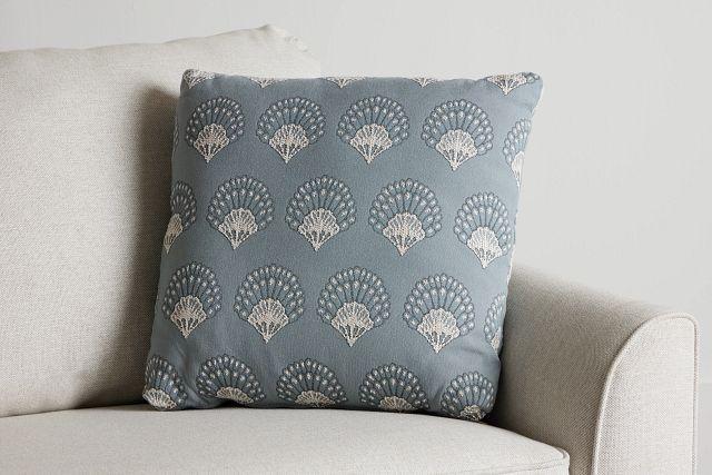 "Chantilly Blue Fabric 20"" Accent Pillow (0)"