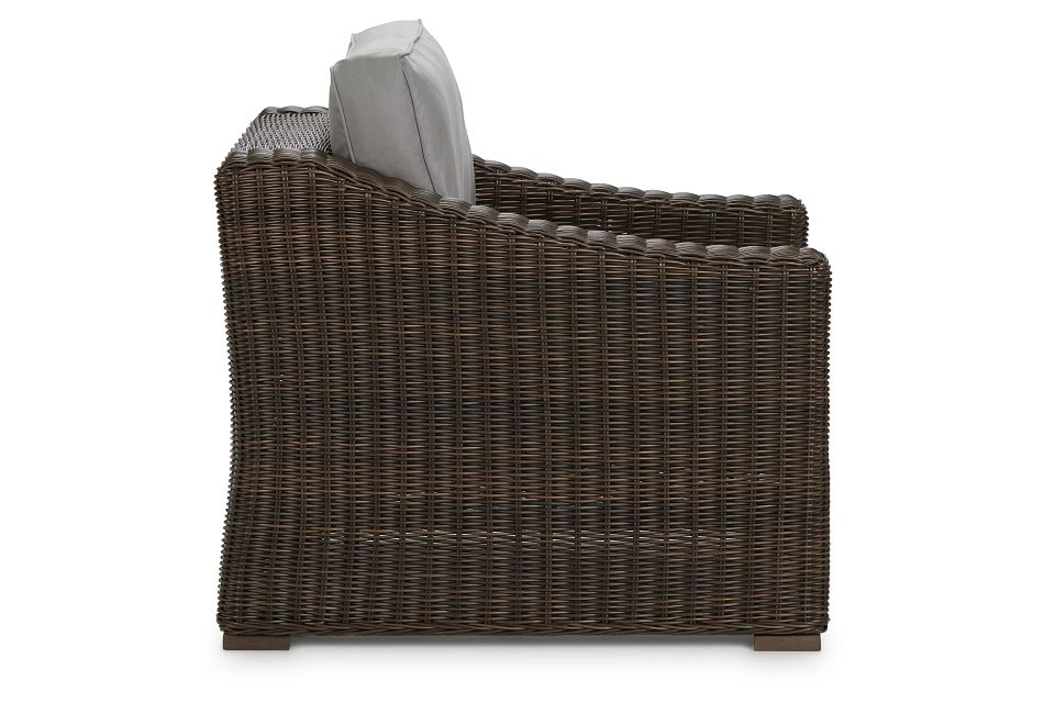 Canyon Dark Brown  Gray Chair