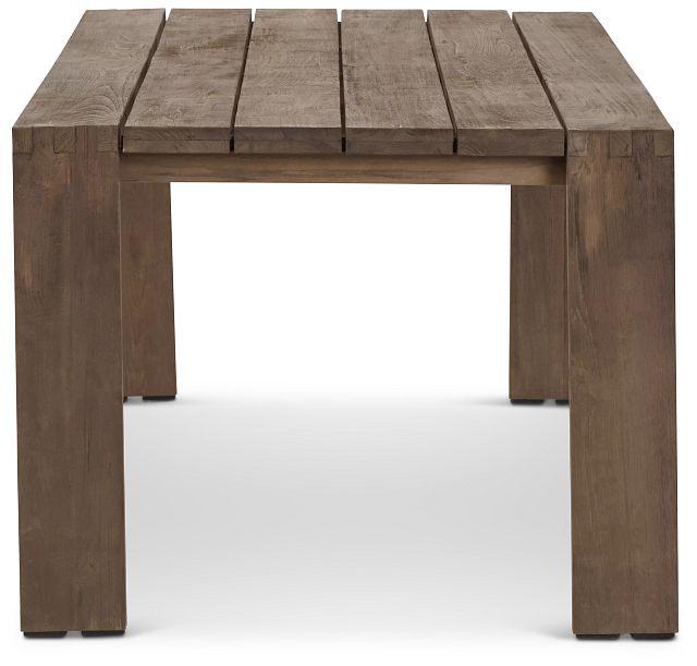"Linear Teak 82"" Rectangular Table (2)"