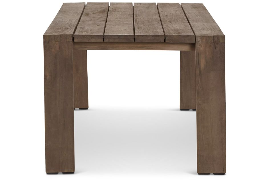"Linear Teak 82"" Rectangular Table"