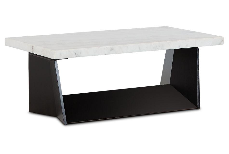Auburn White Marble Rectangular Coffee Table