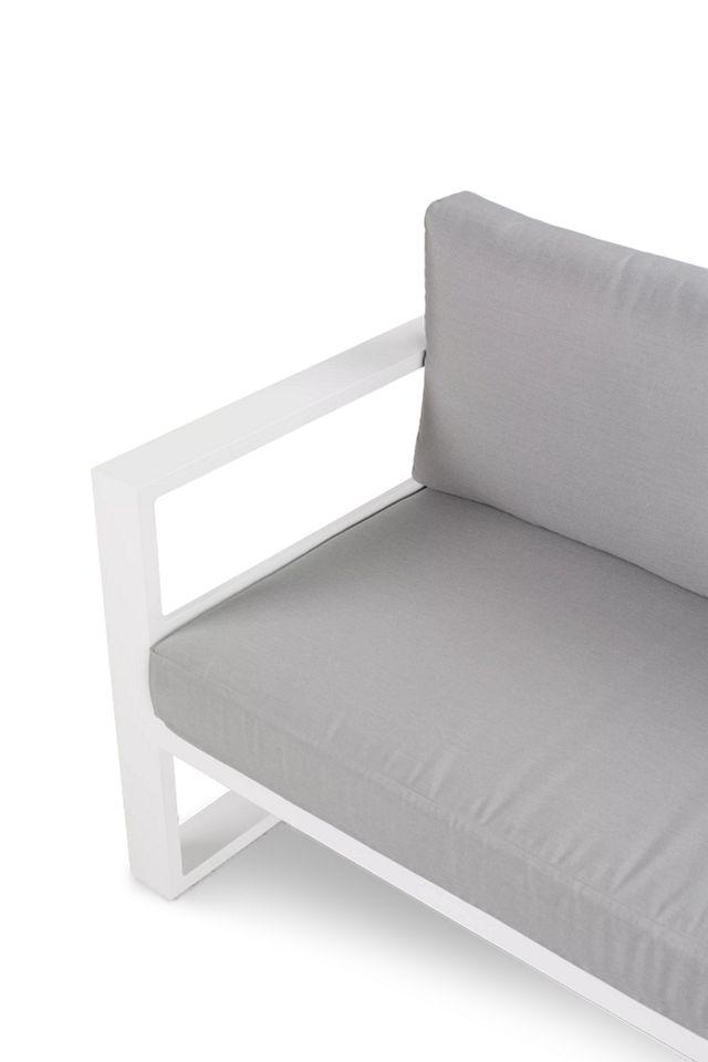 Lisbon Gray Aluminum Chaise Sectional
