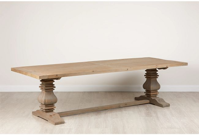 "Hadlow Gray 110"" Rectangular Table"