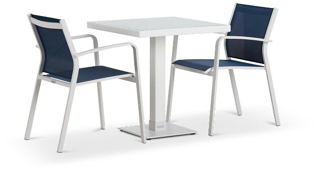 """Lisbon Navy 27"""" Square Table & 2 Chairs (0)"""