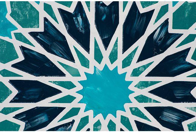 Meghan Blue Framed Canvas Wall Art