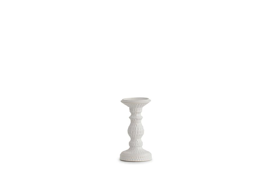 Jaclyn White Small Candle Holder