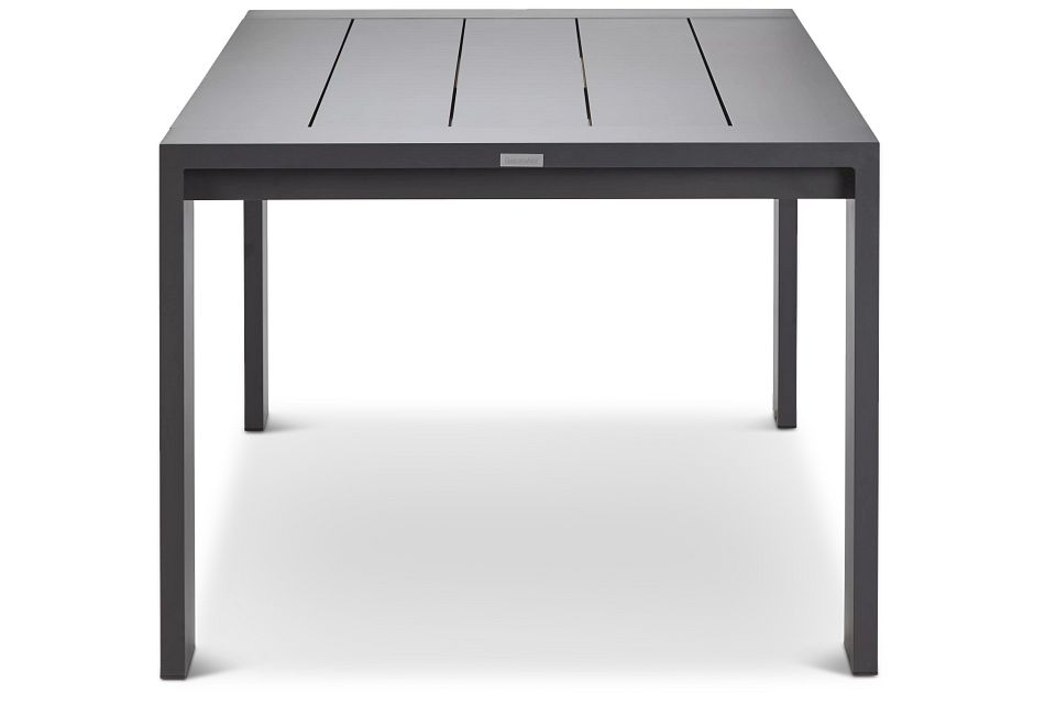 "Linear Dark Gray 87"" Rectangular Table"