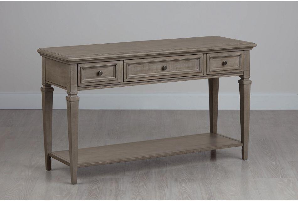 Sonoma Light Tone Wood Sofa Table