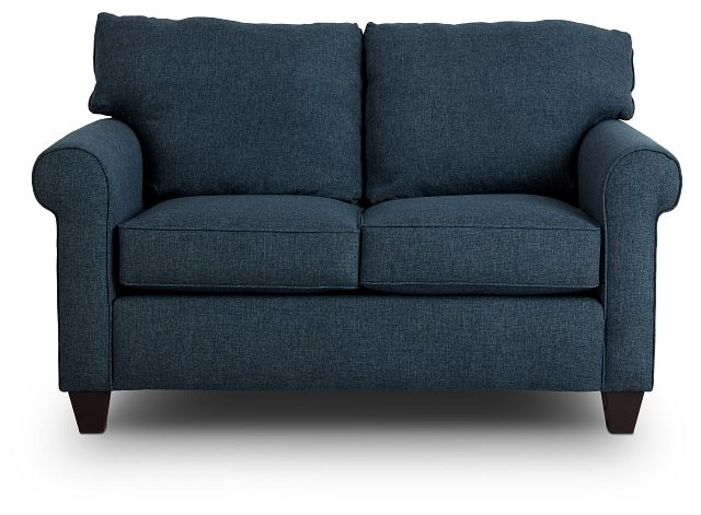 Cameron Blue Fabric Loveseat (1)