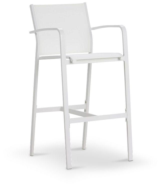 """Lisbon White 30"""" Barstool (2)"""