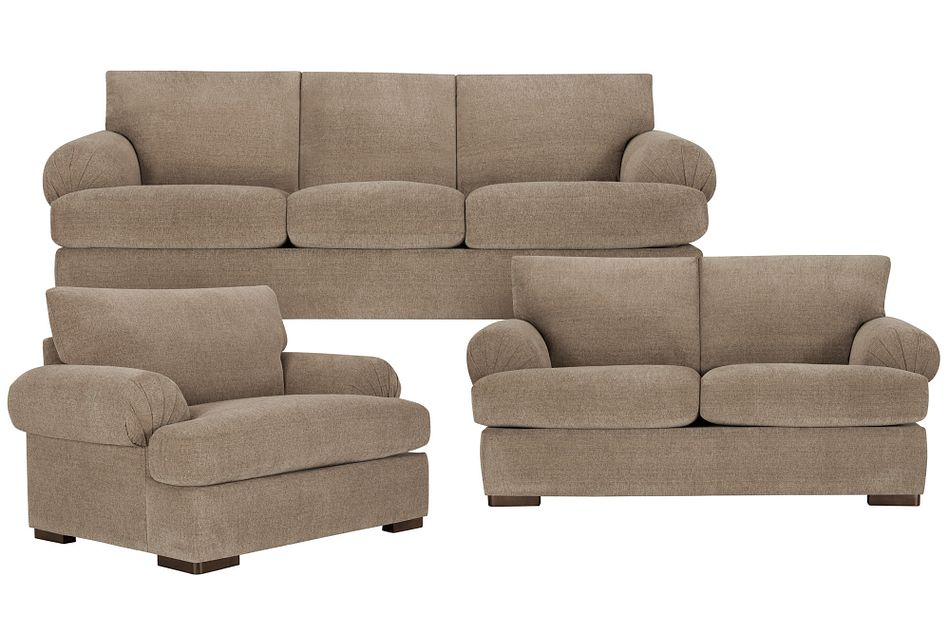 Belair Dark Taupe  Fabric Living Room