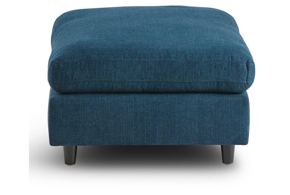 Simone Dark Blue Fabric Ottoman