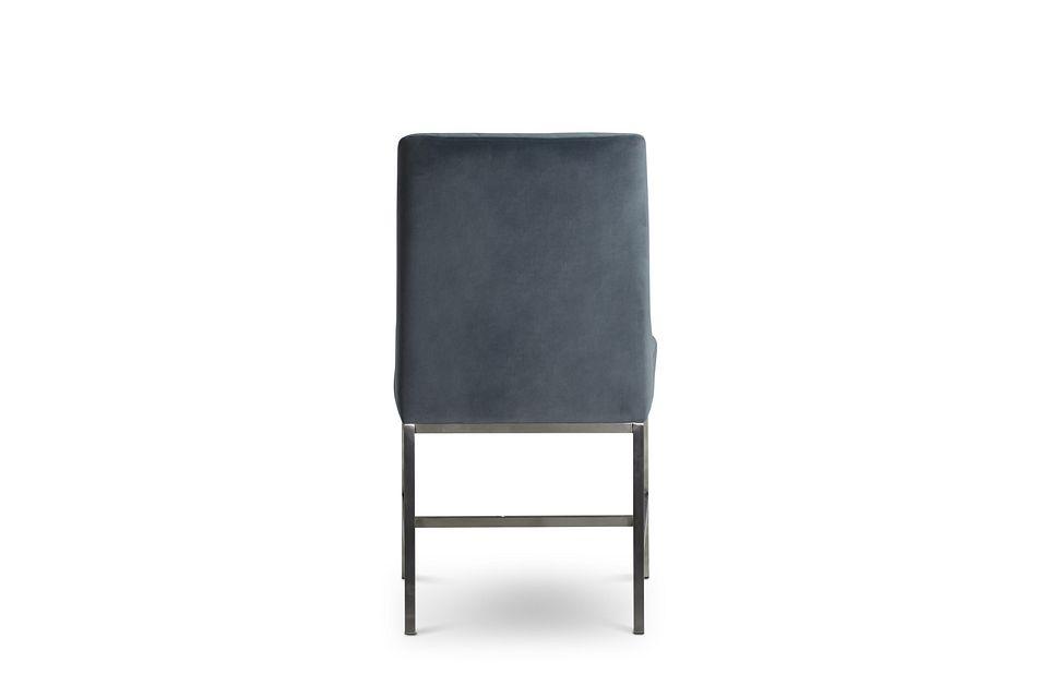 Caspia Light Gray Velvet Upholstered Side Chair