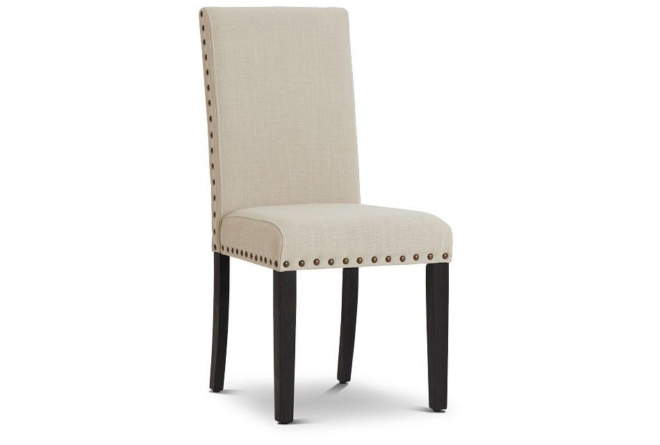 Portia Dark Tone Upholstered Side Chair,  (1)