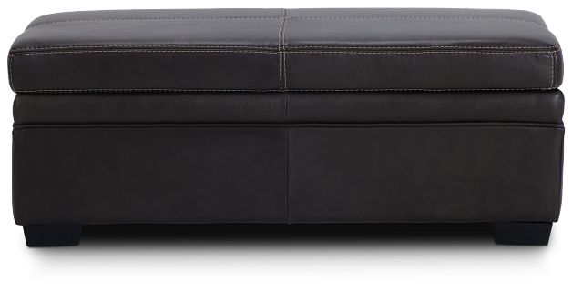Carson Dark Brown Leather Storage Ottoman (3)