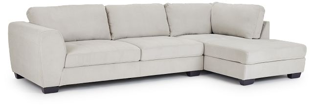 Perry Light Gray Micro Right Chaise Sectional (1)
