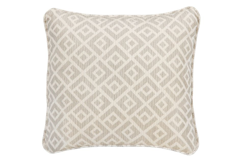 "Chipper Light Gray 18"" Indoor/outdoor Accent Pillow"