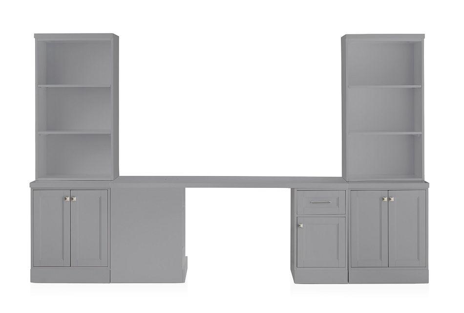Newport Gray Small Peninsula Door Wall Desk
