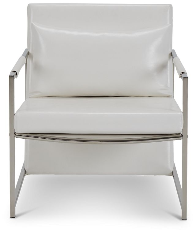 Russell White Uph Accent Chair (3)