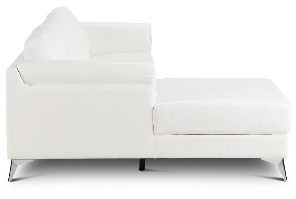 Gianna White Micro Left Chaise Sectional, %%bed_Size%% (2)