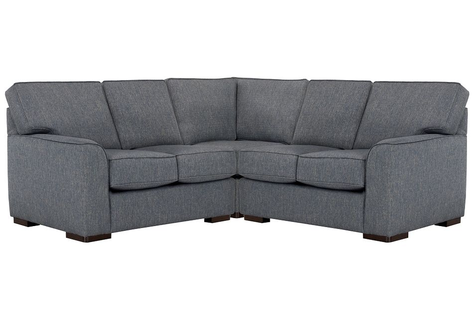Austin Blue Fabric Small Two-arm Sectional