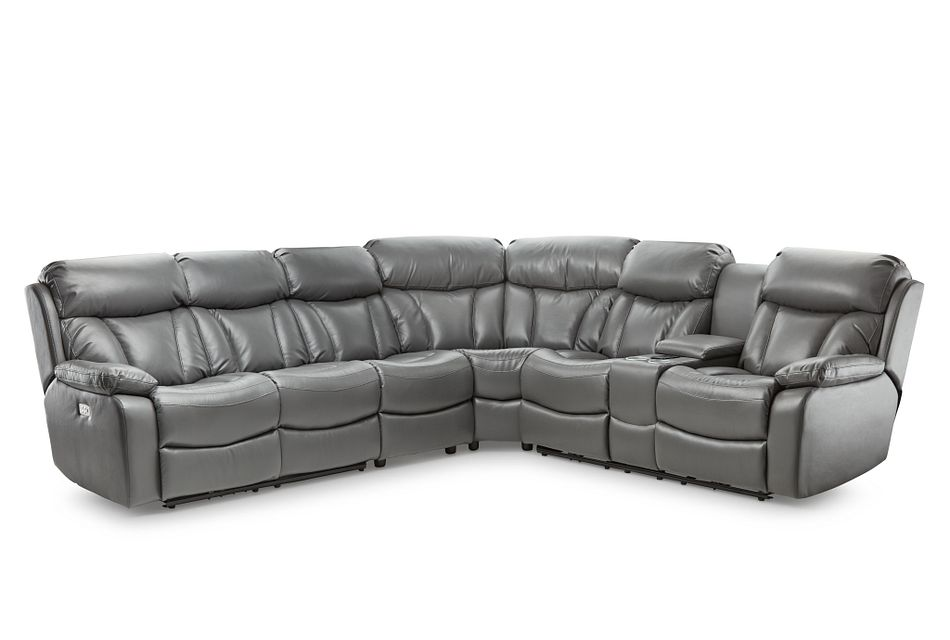 Dustin Gray Micro Large Right Console Love Reclining Sectional