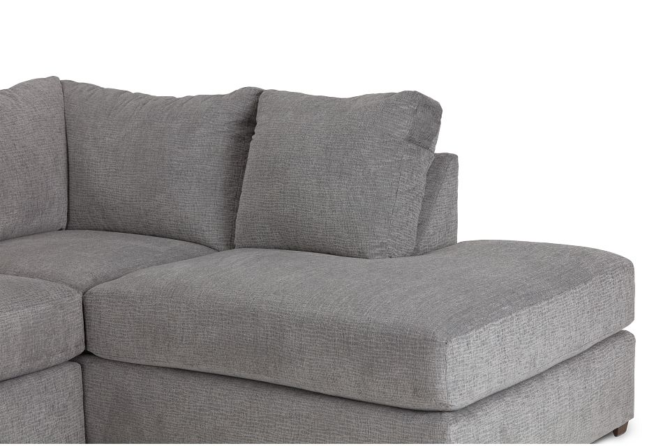 Banks Gray Fabric Right Bumper Sectional