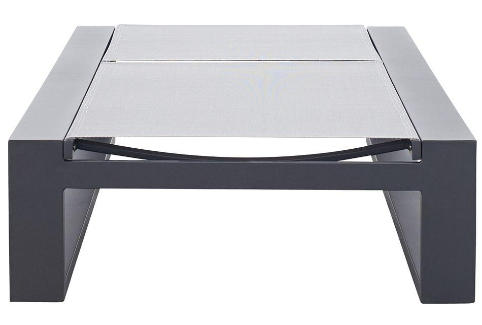 Linear Dark Gray  Aluminum Chaise