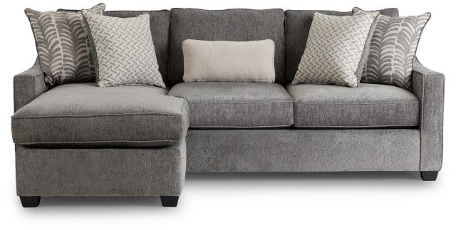 Bianca Gray Fabric Chaise Sectional (3)